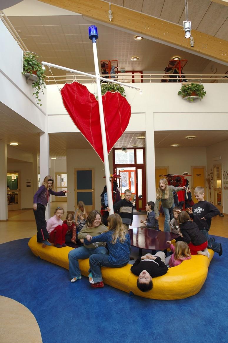Strandnäs skola/utsmyckningkonstverk av Jan-Erik Andersson